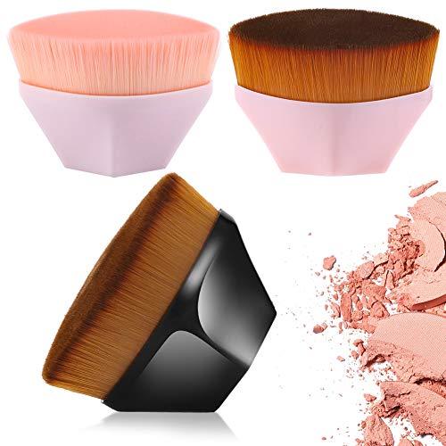 tiopeia 3 Stück Foundation Pinsel Make Up Blütenblatt Förmige Pinsel Blush Pinsel Gesicht Pinsel zum Mischen von Flüssigkeit, Concealer Premium, Creme