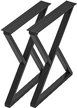 Op zwaar werk berekende meubelpoten Zwart frame Tafelpoot DIY Eettafelpoten Metalen stalen bureaupoten Set van 2 X-frame m...