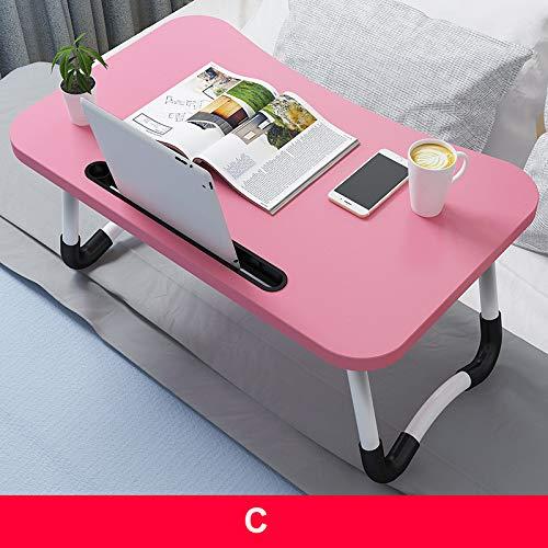 KUYG Faltbar Computertische Laptop-Tisch Stehen Bett Schreibtisch für Frühstücks, Notebook, Bücher, Minitable, Bett Tablett