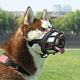 SHUNAI Dog Muzzle Rubber Basket Muzzles...