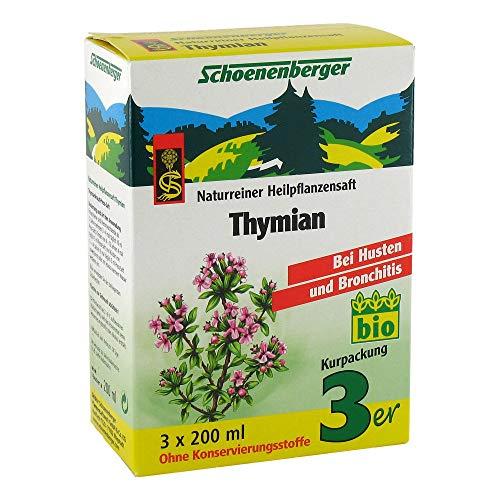 Schoenenberger Thymian, Naturreiner Heilpflanzensaft – bei Husten und Bronchitis - freiverkäufliches Arzneimittel, 600 ml