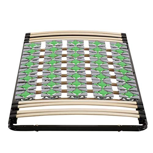 i-flair Lattenrost 90x200 cm Lattenrahmen Tellerlattenrost Ergo IF56 - für alle Matratzen geeignet - alle Größen