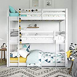 white triple bunk bed from Dorel Living