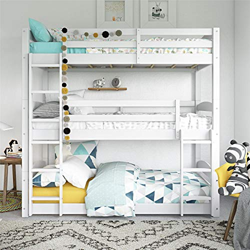 Dorel Living Sierra Triple Floor Bunk Bed | White | DL7891TBBW model
