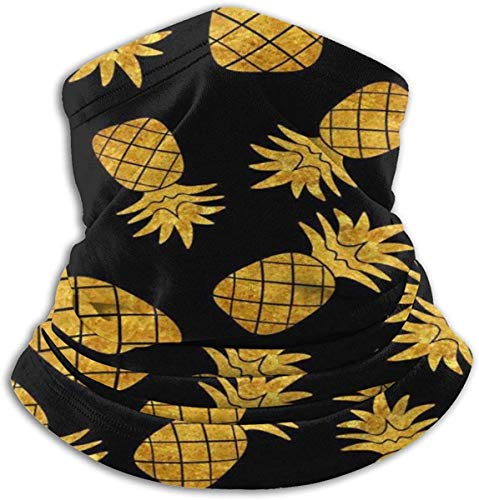 Unisex Home of Pineapple Winter Fleece Neck Warm Gaiters Hairband Cold Weather Tube Face Mask Thermal Neck Scarf Outdoor UV-bescherming Party Cover Black