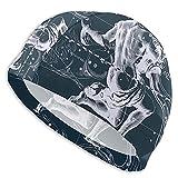 Bxfdc Gorro de natación Fantástico gráfico de Constelaciones Acuario Gorro de baño Transpirable Gorro de baño de poliéster Gorro de natación elástico para Unisex