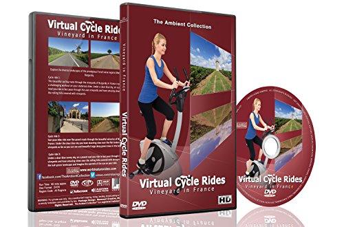 Virtuelle Fahrradstrecken – Weinberge in Frankreich – Für Indoor Radfahren, Laufband und Laufworkouts