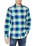 GANT D1.REG Brushed Bright Plaid OXF BD Camisa, Verde, XXL para Hombre