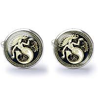 MFYS Jewelry レトロ西洋風 水妖 人魚 カフス カフスボタン・カフリンクス (カフス本体)