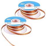 MIKIMIQI Solder Wicks, 2 Pack No-Clean Solder Braided Wicks Desoldering Wicks Solder Removal Tool, 0.1 Inch Width 1.5 Meter Length for Each Solder Wick