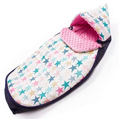 Sevira Kids Turb-Big-Stars-candy - Saco universal para cochecito o silla de coche