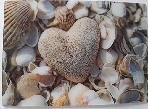 3 D Ansichtskarte Herz mit Muscheln, Postkarte Wackelkarte Hologrammkarte
