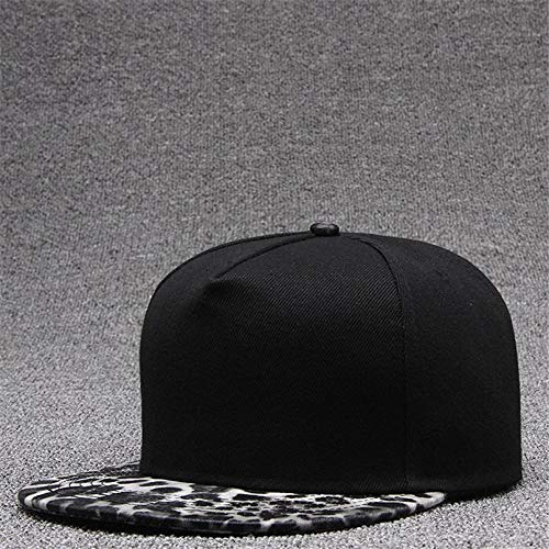 Gorra de leopardo Snapback Gorra de béisbol para mujer Gorras planas de verano Gorras de hip hop Gorras deportivas de moda Streetwear Sombreros para hombres Sombrero de deporte al aire libre gris