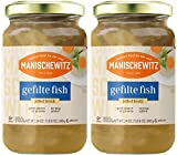 Manischewitz Gefilte Fish in Jelled Broth 24oz (2 Pack), Packed with Protein, No Added MSG, Kosher for Passover