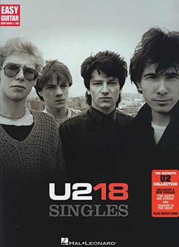 U2: 18 Singles (Easy Guitar) (Easy Guitar with Notes & Tab)