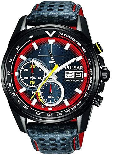 【セット商品】[パルサー] セイコー SEIKO パルサー PULSAR ソーラークロノグラフ腕時計 WRC限定モデル PZ6039X2 &マイクロファイバークロス 13×13cm付き[並行輸入品]