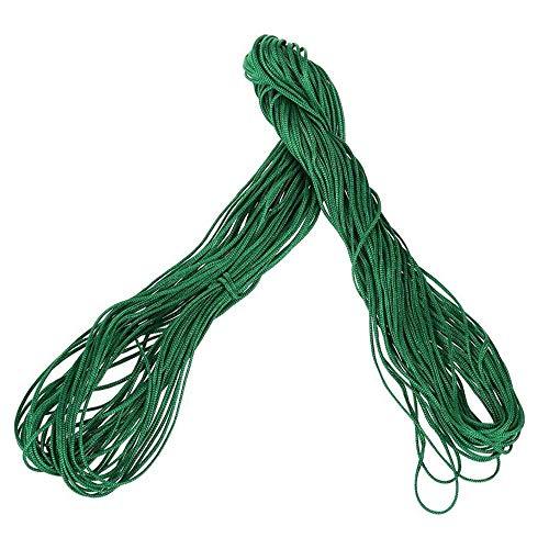 Cordón de nudo chino de nailon de 1 mm para pulsera de cuerda de hilo de macramé y rattail, pulsera trenzada de 25 m, color verde, ecológico y práctico