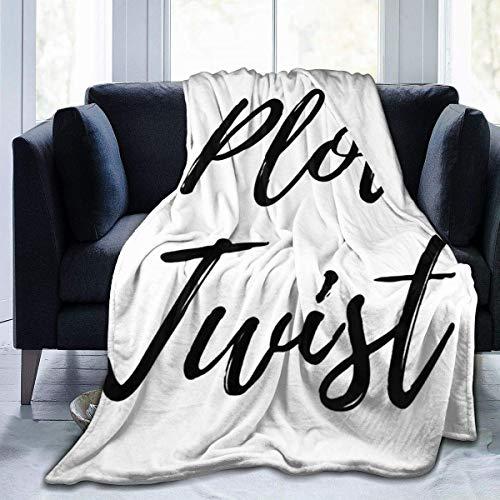 huatongxin Plot Twist Manta de Microfibra Super Soft Hypoallergenic Plush Bed Couch Living Room Bedroom Gifts