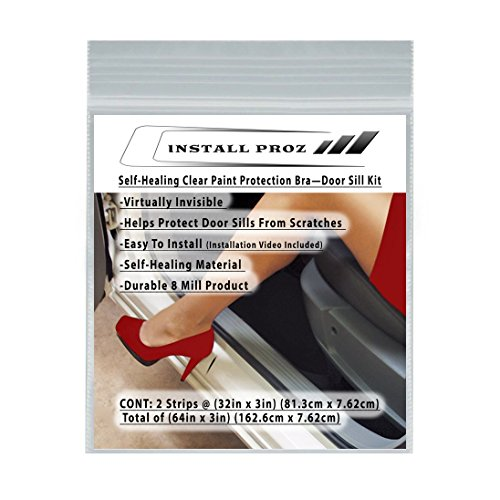 Install Proz Self-Healing Clear Paint Protection Bra—Door Sill Kit (64in x 3in)