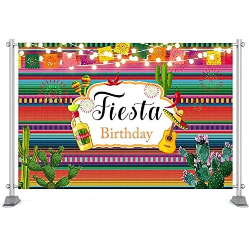 Telón de Fondo de Fiesta Mexicana México Vestido de Taco día cumpleaños telón de Fondo Fiesta de Verano Suministros de decoración para Fiesta de cumpleaños-250x180cm