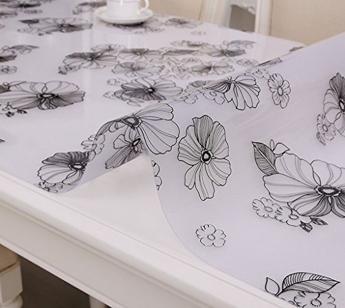 Nappes Tissu de table Runner - Tissu de table en plastique transparent, platine en plastique de table en cristal ( Couleur : A thickness of 1.0 mm , taille : 70*140cm )