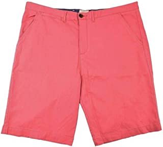 J.A.C.H.S Mens Flat Front Chino Short (38 Red Jetty)