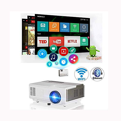 SJSLSJSL LCD Projectors Support HD 1080P Wireless WiFi Bluetooth Video Proyector Support Hdmi USB Vga Av Speaker Home Theater Outdoor