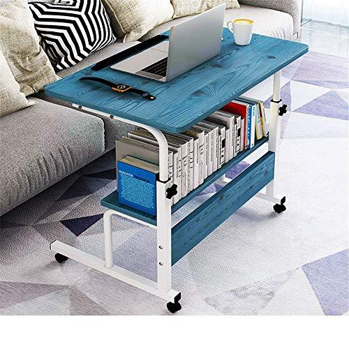 KIKIRon Laptopständer Höhenverstellbarkeit Computer-Schreibtisch Wagen Laptop Lap Desk Laptop-Schreibtisch for Bett, Sofa, Schreibtischaufsätze (Farbe : Blau, Size : 80x40cm)
