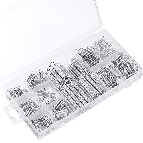 TUPARKA 200 Pcs Muelles Compresion, Surtidos Pequeños Extensiones y Muelle de Compresión con una Caja de Almacenamiento