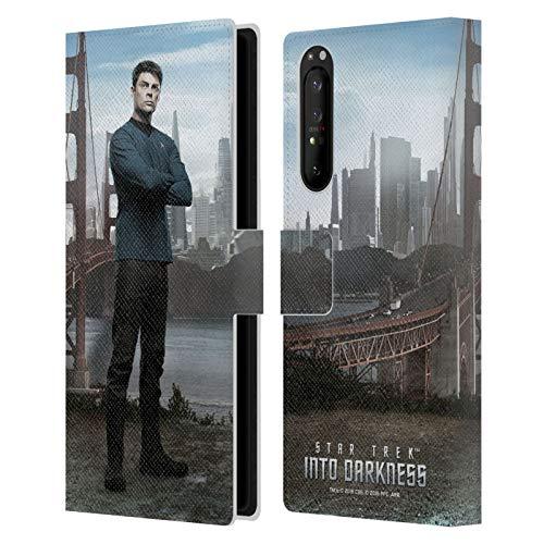 Head Case Designs Offizielle Zugelassen Star Trek Mccoy Figuren Into Darkness XII Leder Brieftaschen Handyhülle Hülle Huelle kompatibel mit Sony Xperia 1 II 5G