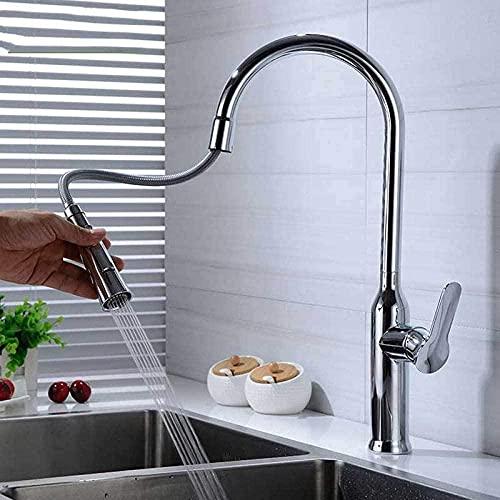 Grifo para fregadero de cocina grifo de agua fría y caliente doble función de salida de agua para lavavajillas PXEMEOED