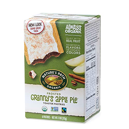 Nature's Path Organic Toaster Pastries, Frosted Granny's Apple Pie, 6 Count