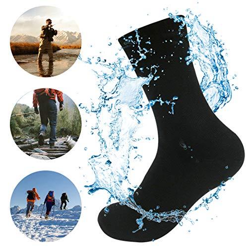 Waterfly Unisex wasserdichte Socken für Damen und Herren Ultraleichte Atmungsaktive Sport Klettern Trekking Wandern Camping Angeln Socken Schwarz L