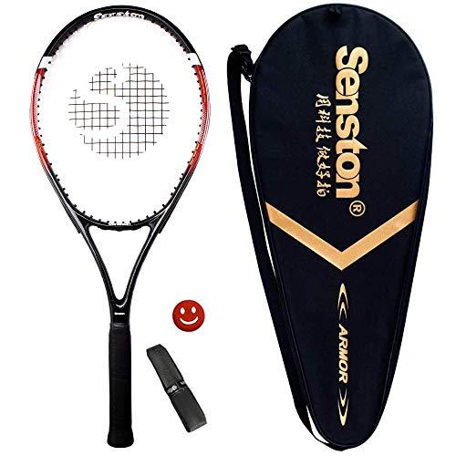 Senston - Racchetta da Tennis da 27'' con Custodia Premium per Il Trasporto, Set di Racchetta da Tennis, Include 1 Overgrip + 1 ammortizzatori per Vibrazioni