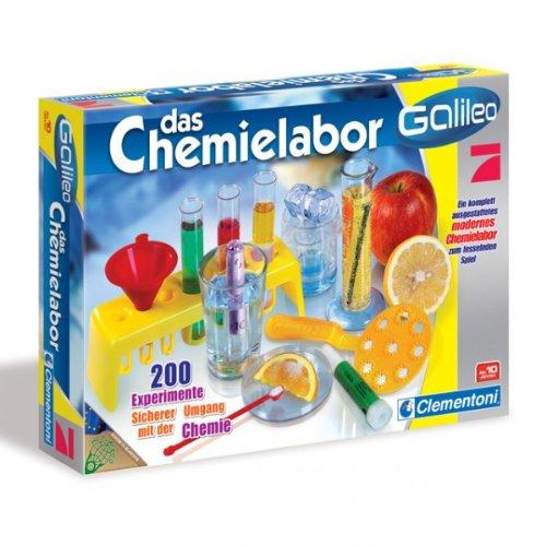 Clementoni 69229 - Galileo - Das Chemielabor 200 Experimente Experimentierkasten ab 10 Jahre