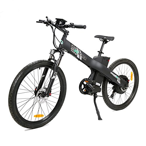 ECOTRIC 26' Electric Mountain Bicycle Ebike Powerful 48V/13AH 1000W Motor Removable Battery Aluminum Frame Black City Tire LED Display Throttle and Peddle Assist Power (Black)