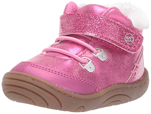 Stride Rite Girls\' SR Chandler Ankle Boot, Pink, 4.5 M US Toddler