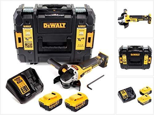 DeWalt DCG 405 M2 Akku Dewalt Akku Winkelschleifer 18V 125mm Brushless + 2x Akku 4,0Ah + Ladegerät + TSTAK
