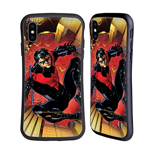 Head Case Designs sous Licence Officielle Batman DC Comics Costume Logo Rouge # 1 2011 Nightwing Coque Hybride Compatible avec Apple iPhone XS Max