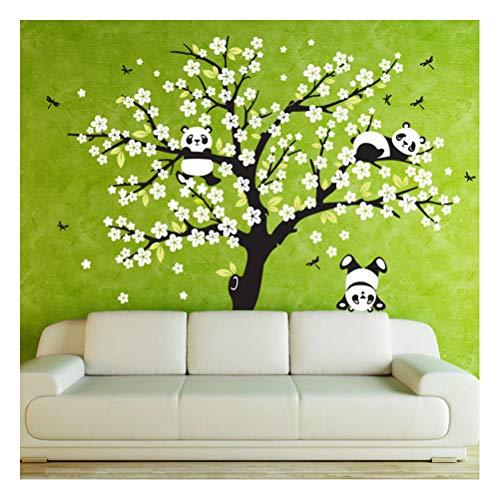 Quner - Adhesivo Decorativo para Pared (extraíble), diseño romántico de árbol y Mariposas, Style2, Talla única