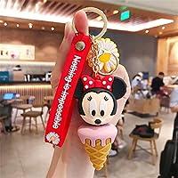 完璧 キーチェーンコスプレキーチェーンフィギュア袋のキーホルダーのためのペンダント (Color : Ice Cream Minnie)
