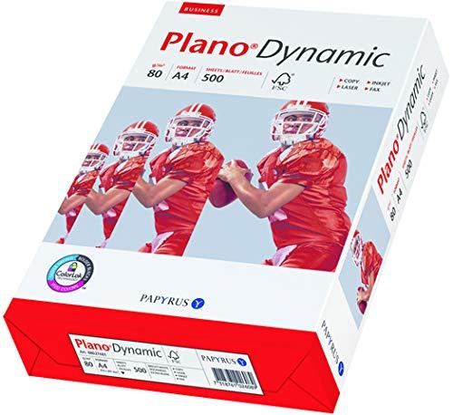 PAPYRUS Multifunktionspapier Plano®Dynamic, A4, 80 g/m², ECF, hochweiß (500 Blatt), Sie erhalten 1 Packung á 500 Blatt