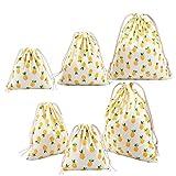Amoyie-Lot de 3/4adorables sacs de rangement réutilisables avec cordon...