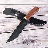 AUBEY Jagdmesser Scharf Jäger Bushcraft Messer Feststehend Klinge Überlebensmesser Outdoormesser