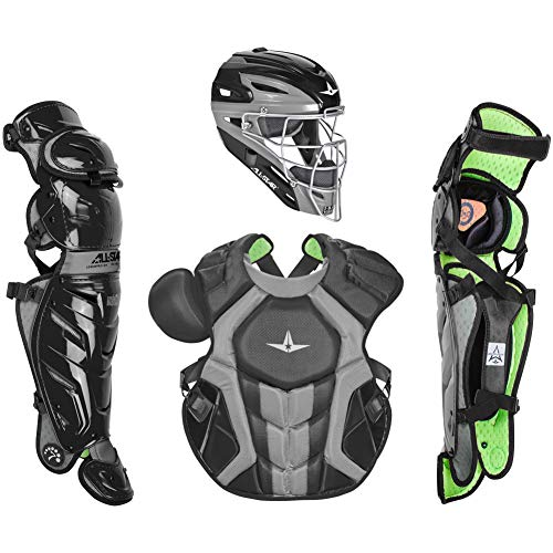 All-Star Adult System7 Axis Pro Catchers Set Black/Grey