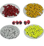 Aventik 40pcs Lead Dumbbell Shaped Fish Eyes Realistic Fly Tying Materials, Four Colors, Easy to Use, Streamers, Crafts, Baitfish, Spinner Flies, Fresh Water (4mm with 4 Colors Each 10pc)
