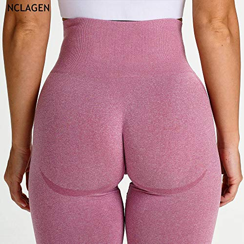 Mode yoga legging rekbaar,naadloze fitness push up yoga broek,hoge taille squat proof workout legging-roze,patroon bedrukte stretch legging