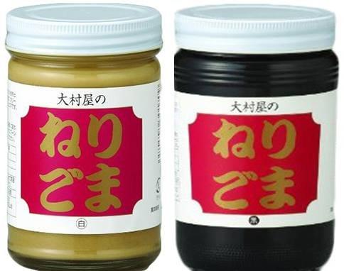ねりごま (白) 340g・ねりごま (黒) 340g×2セット 大村屋 適度に焙煎し、少し粗めにすりつぶした香味豊かなペースト状のゴマ