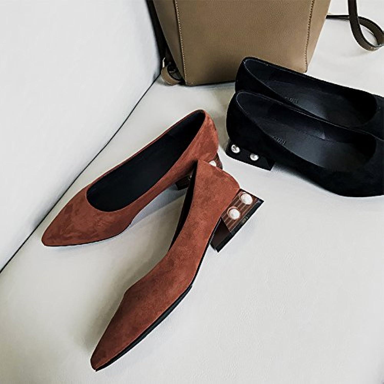 Xue Qiqi Court Schuhe Wildes Flaches Niedrig-abgesetztes Spitzes der Wilden Velourslederfrauen Stark mit Sätzen der Füße Arbeiten die Schuhe der Frauen Um    Moderne und elegante Mode    Große Ausverkauf    Verschiedene Waren