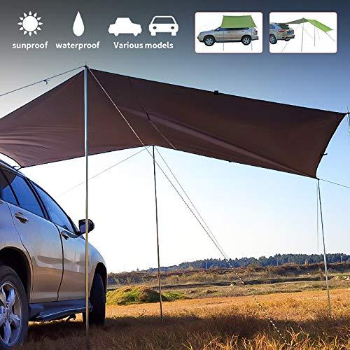 Toldo Lateral del Coche SUV Tienda de campaña Lateral del Coche toldo Exterior vehículo Todoterreno Equipo de Coche de conducción automática (Army Green,300 * 150cm)